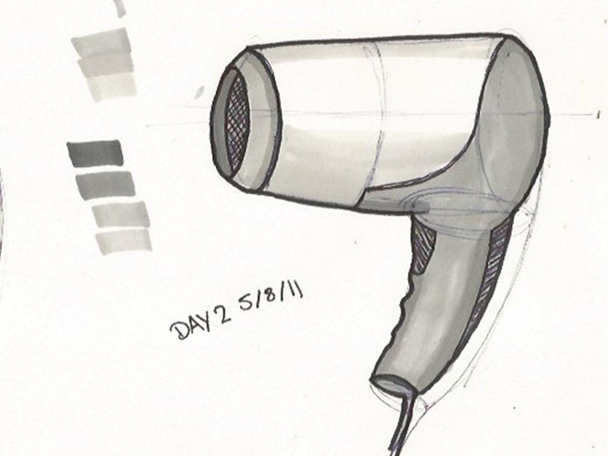 sketch hair dryer watersway
