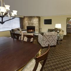 Hotel With Living Room Wall Lamps Luxury Suite In Sault Ste Marie Algoma S Water Tower Inn And Fireplace