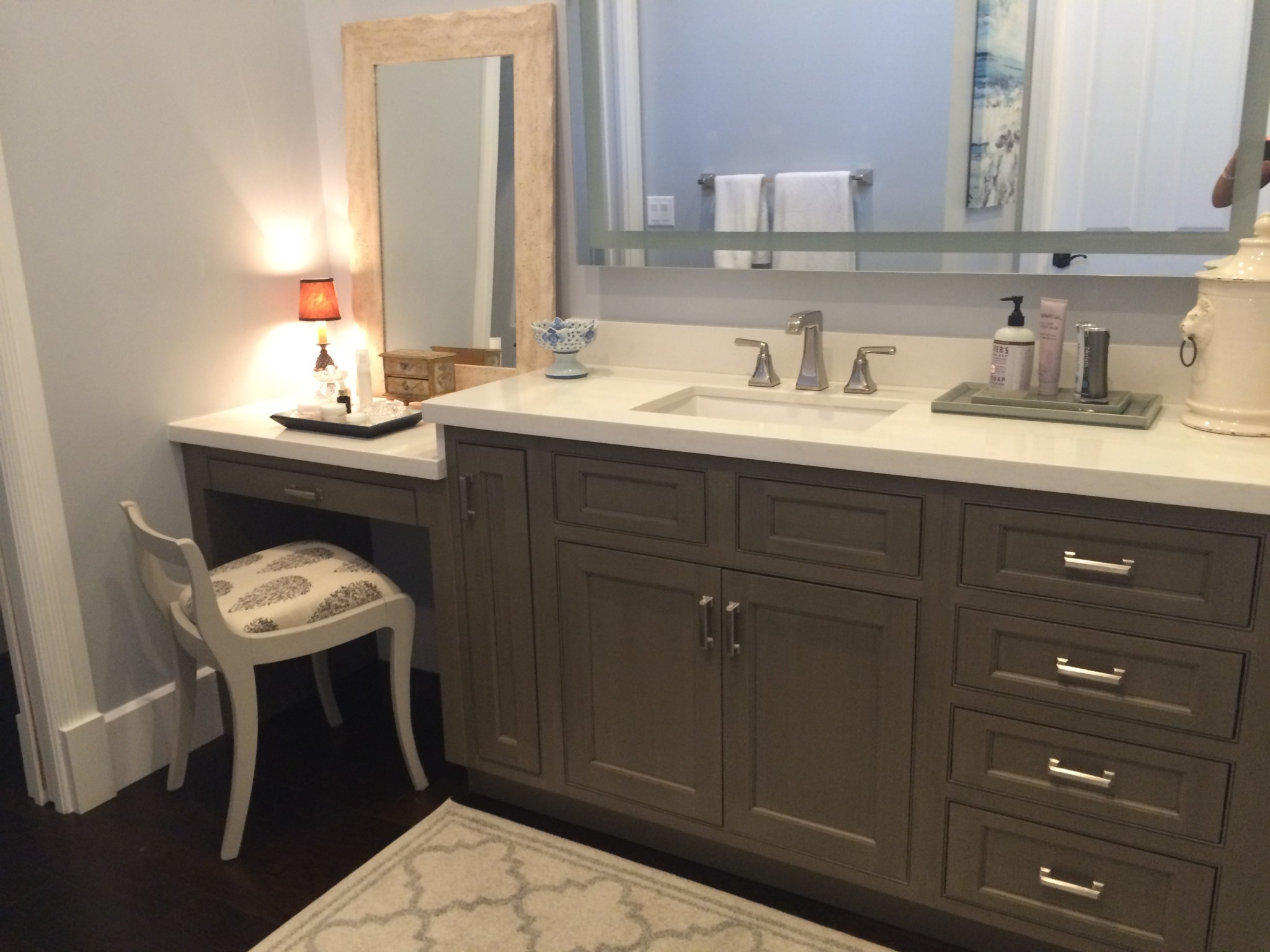 Painted Bathroom Cabinets Gray Painted Bathroom Vanity Waterview Kitchens