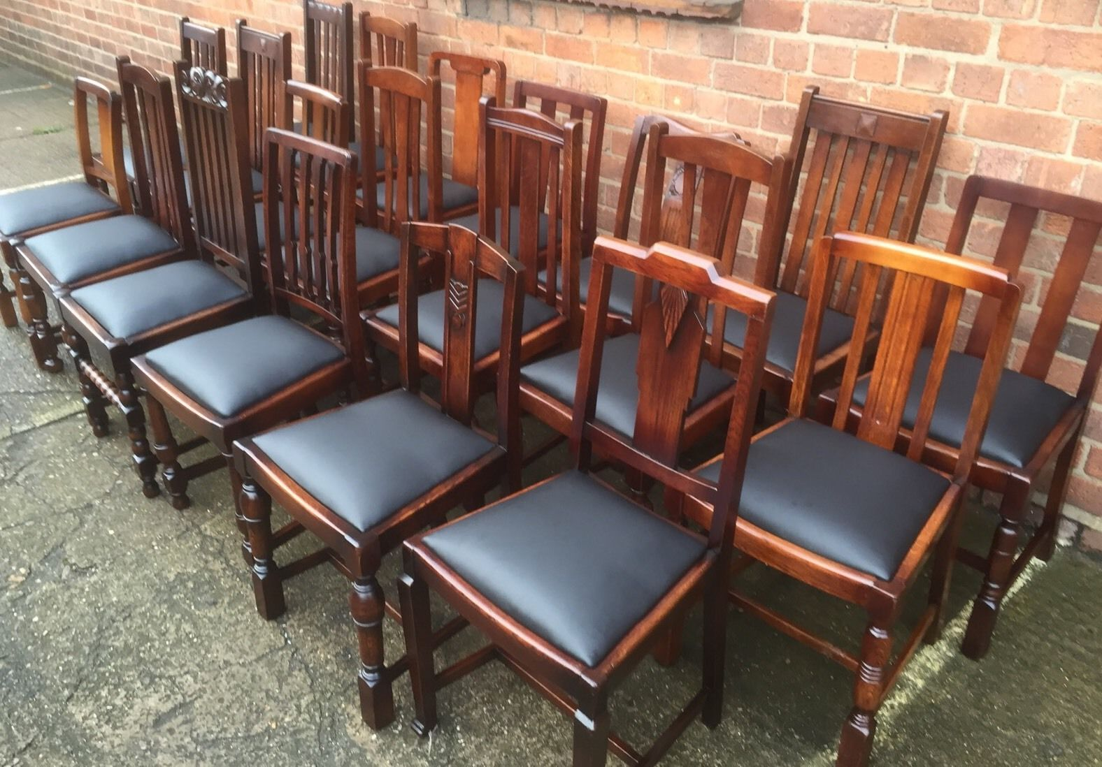 Refurbished Chairs Collection Of Oak 1920s Refurbished Dining Chairs For Pubs Restaurants Etc