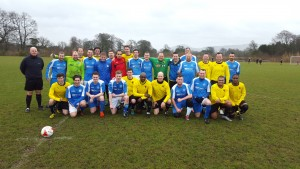 The two teams prior to kick-off