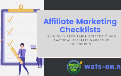 Endless Affiliate Profits – Affiliate Marketing Checklists