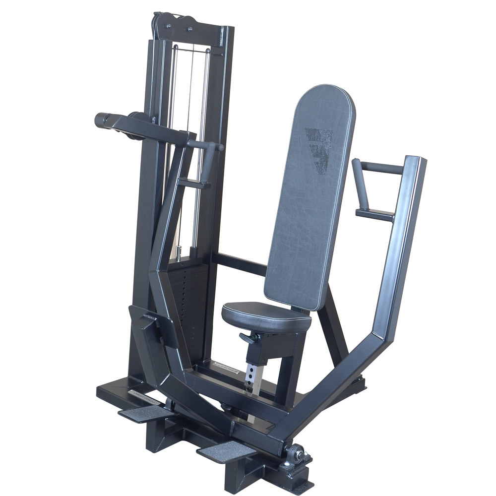 gym chest chair leather director single stack press watson equipment