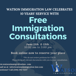 Watson Immigration Law 10th Anniversary