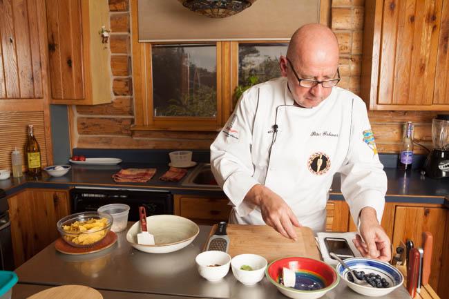 Breakfast preparation Prescott Watson Lake Inn