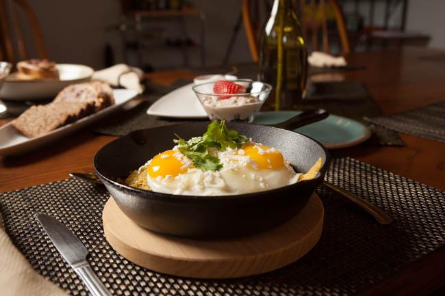 Bed and Breakfast Prescott Arizona Eggs and Chips