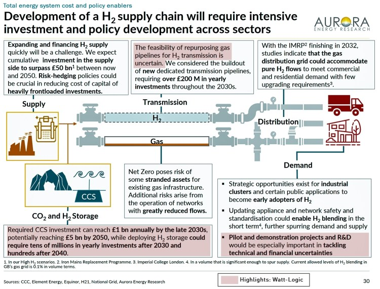 hydrogen investment requirements
