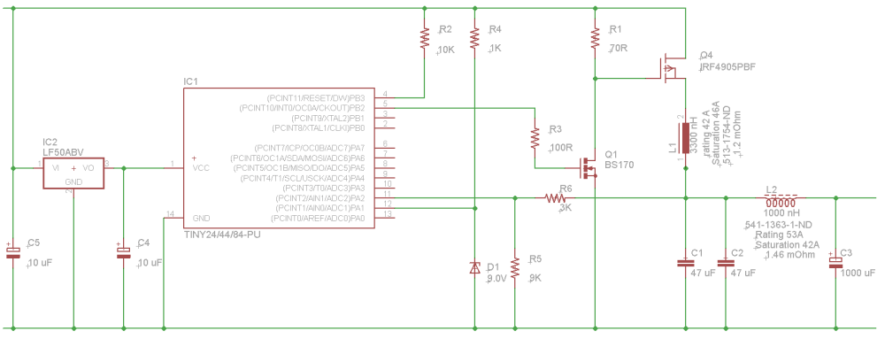 medium resolution of and here s the schematic switching buck converter based on attiny84a