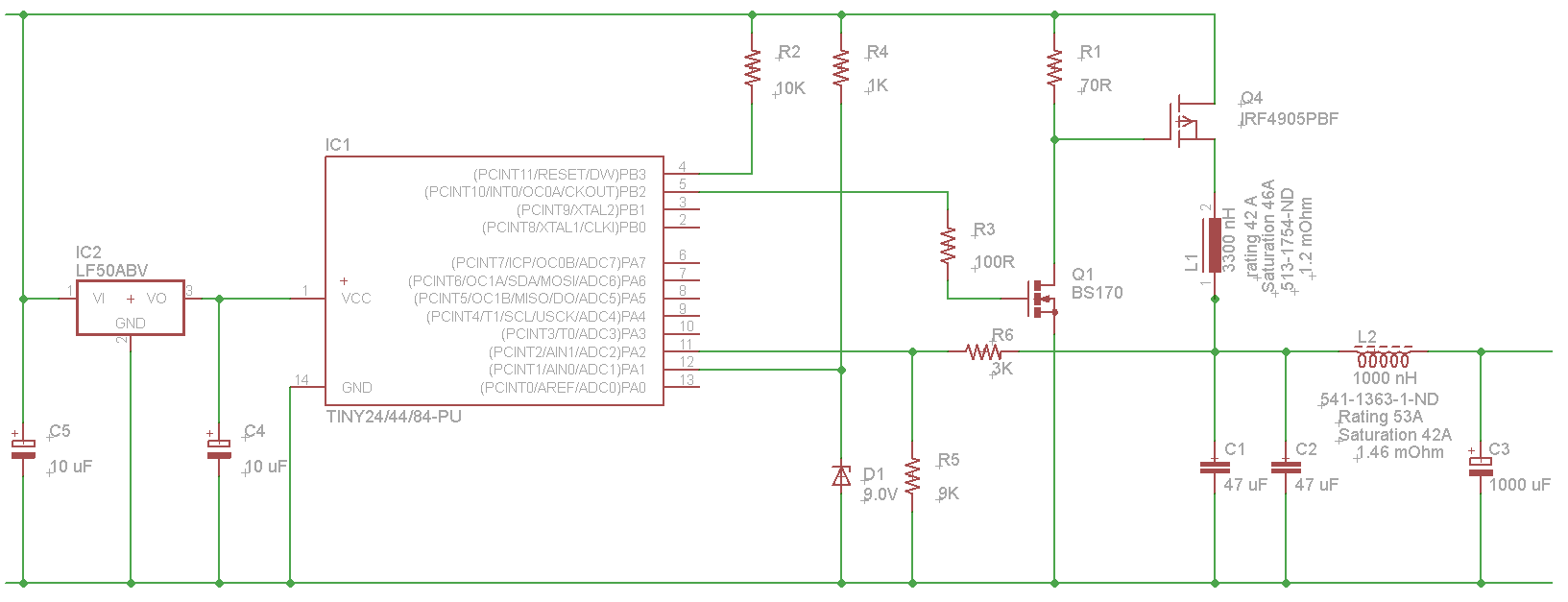 hight resolution of and here s the schematic switching buck converter based on attiny84a