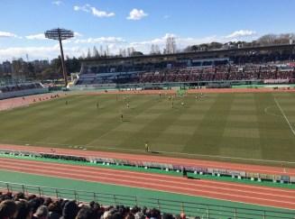 很期待第一次在日本看足球賽