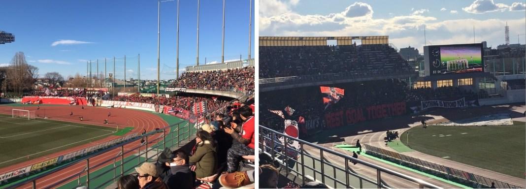 大聲為球員加油也是現場觀賽的樂趣(左),現場也有球迷振力揮舞應援旗(右)