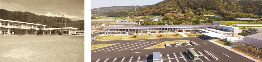 廢校的保田小學校,現在已成為「道の駅」