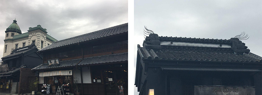 Every building has its own characteristic. From Japanese gargoyle roof tiles to black facades, it was like every bit of the buildings is telling its own story.