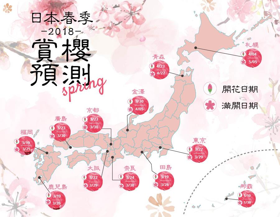 2018春季賞櫻預測 日本各地最佳賞櫻點推薦 | WAttention