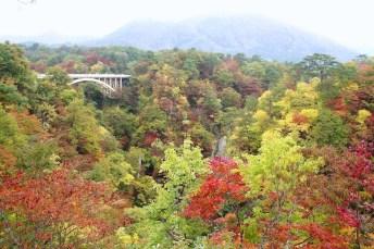 鳴子峽和大深澤橋 ( 奧之細道熱煙線)