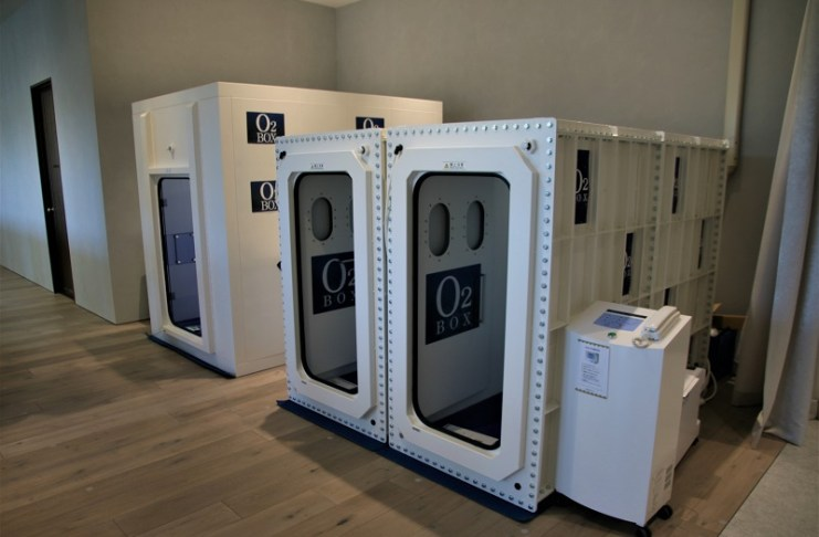 三樓會員專區,設有僅供會員使用的高壓氧太空艙(O2 BOX)
