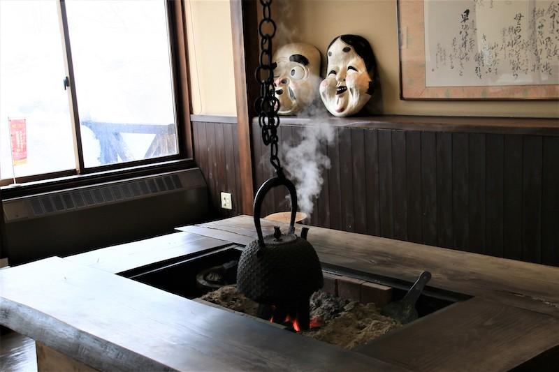 迎賓的大廳可以看到日本傳統的圍爐裏