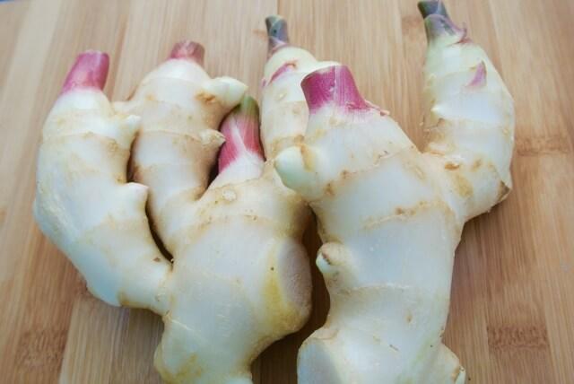 Naturally pink ginger