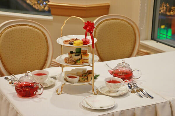 The elegant afternoon tea menu makes one feel as if one is in France