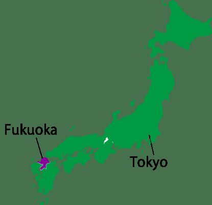 Japan-map-Fukuoka