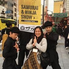 Melissa - Samurai & Ninja show in Asakusa