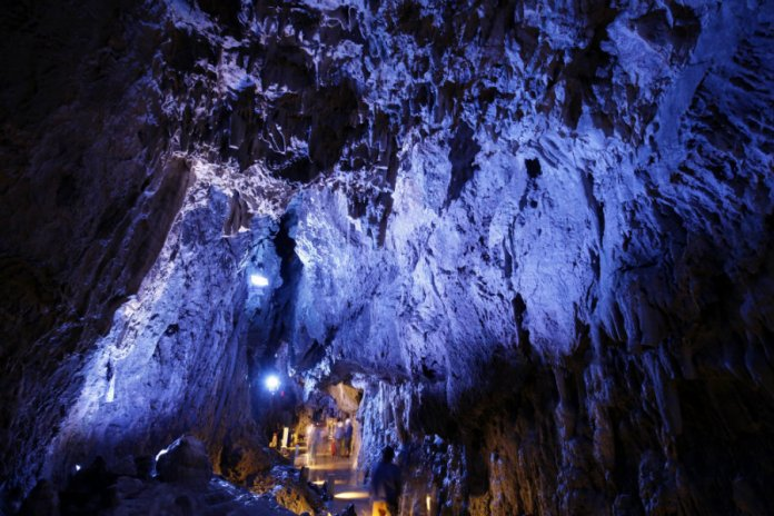 dragon blue caves ryusendo