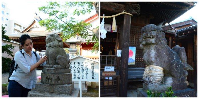 komainu statues in shrines in Niigata