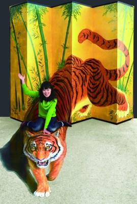 Trick Art Tiger