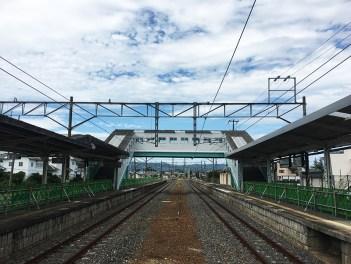 JR Namie Station tracks