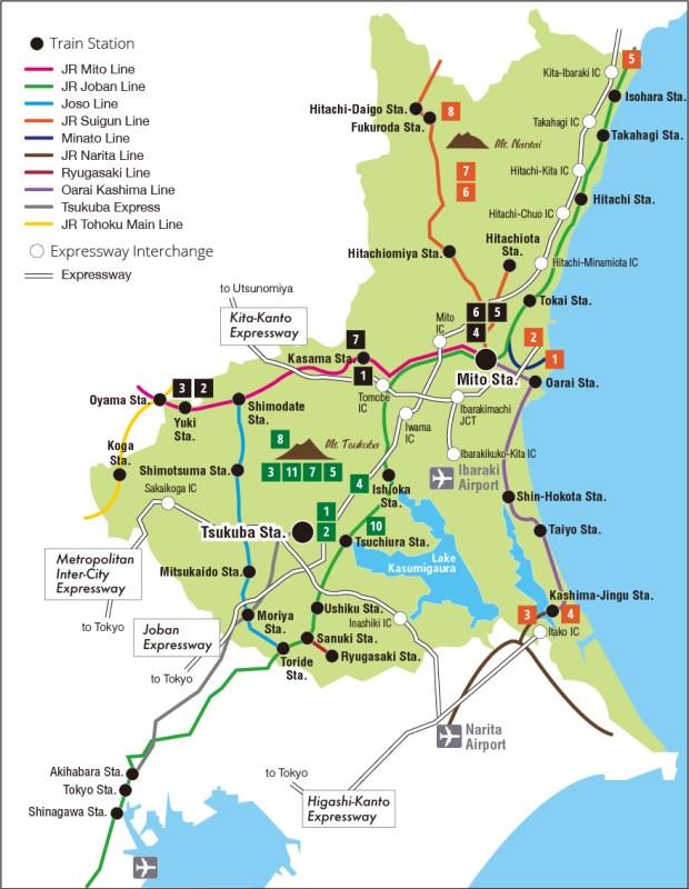 Ibaraki Map