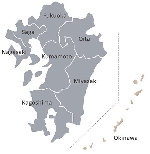 kyushu-okinawa map