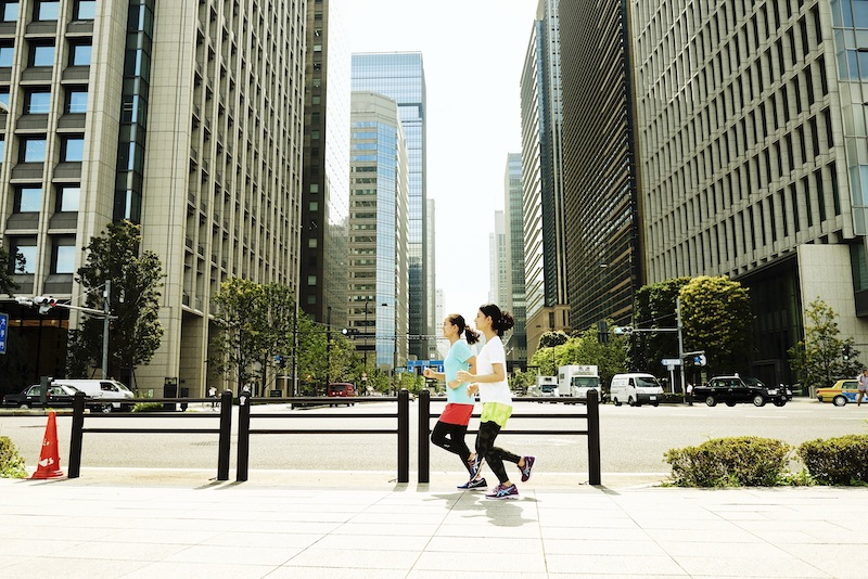Jogging is a great way to enjoy Tokyo