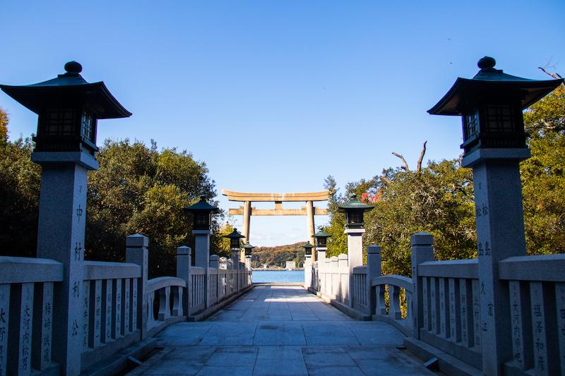 The Torii Gate of the Ieshima Shrine