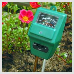 Moisture meter in soil