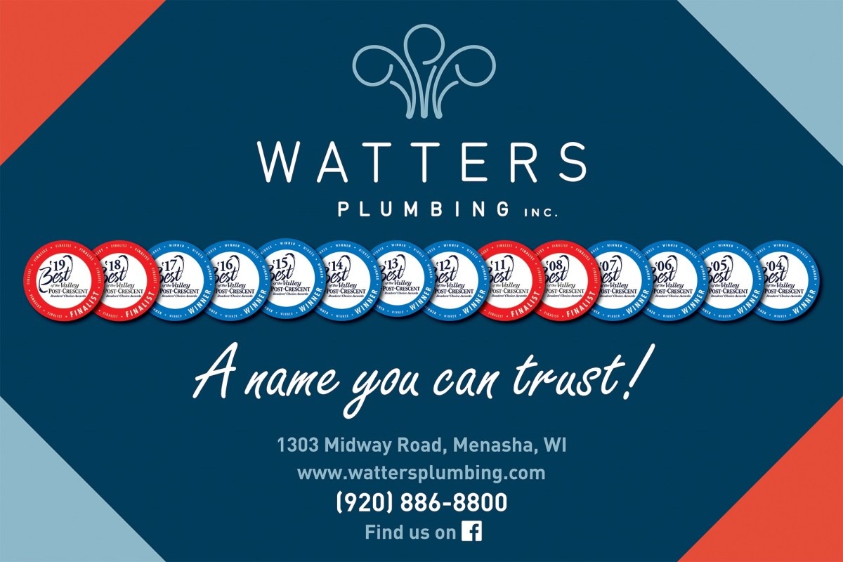 Watter Plumbing, a Name you Can Trust for Exceptional Plumbing Service in the Fox Valley, WI