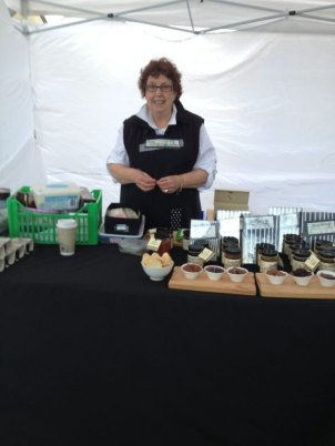 Jenny Wisbey was sharing a tent with Heidi selling her Gourmet Produce from Naracoorte. Jenny has been before and and said that she loves this market as it always so well organised.