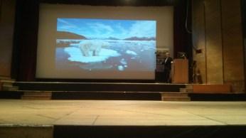 Doom ahead, slide 4, I think the polar bear was photoshopped in.
