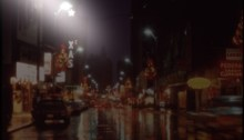 STREET SCENE, NIGHT OF THANKSGIVING DAY 1972, Digitally modified to show night glare.