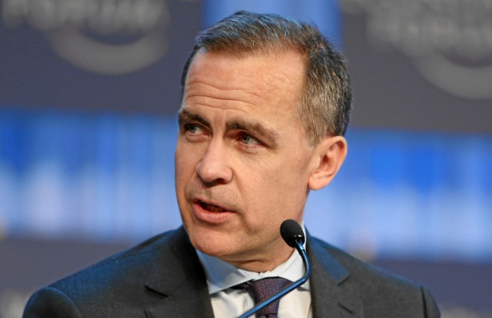 Mark Carney, Governor Bank of England.