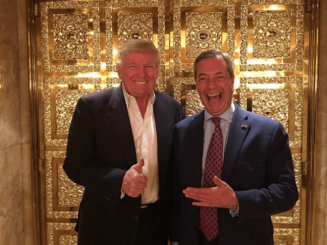 Donald Trump and Nigel Farage, source Breitbart