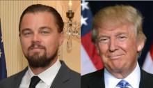 Leonardo DiCaprio and Donald Trump