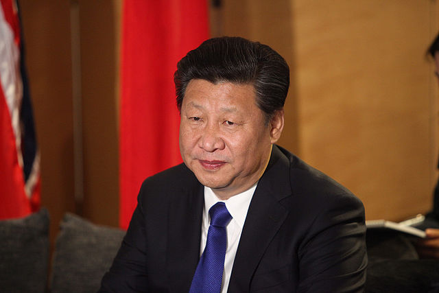 President of China, Xi Jinping arrives in London, 19 October 2015.