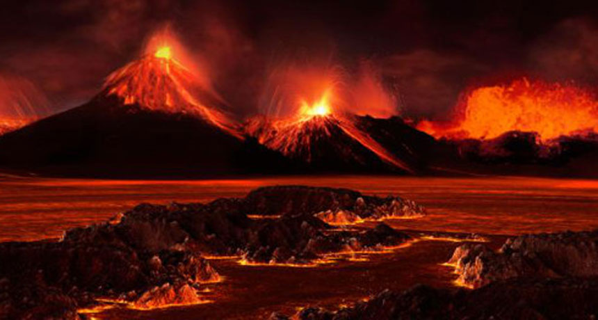 Global climate wrecked by volcanoes caused the largest mass