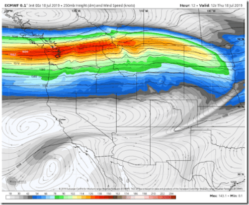 The Strongest Summer Jet Stream to Hit the Pacific Northwest ...