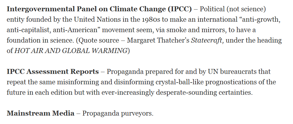 Realistic Glossary of Terms for the Climate Crisis/Climate Emergency