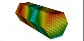Coolant-flow pressure distribution simulation. Argonne National Laboratory