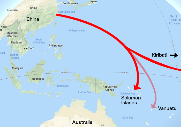 China South Pacific Influence