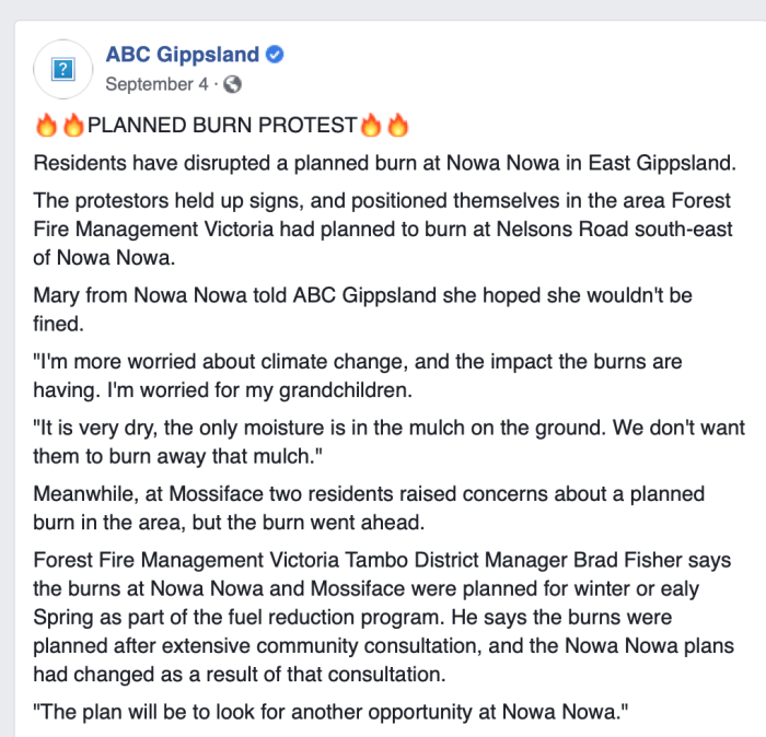 ABC Gippsland Controlled Burn