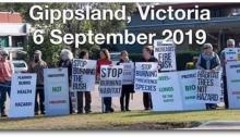Gippsland bushfire controlled burn protest