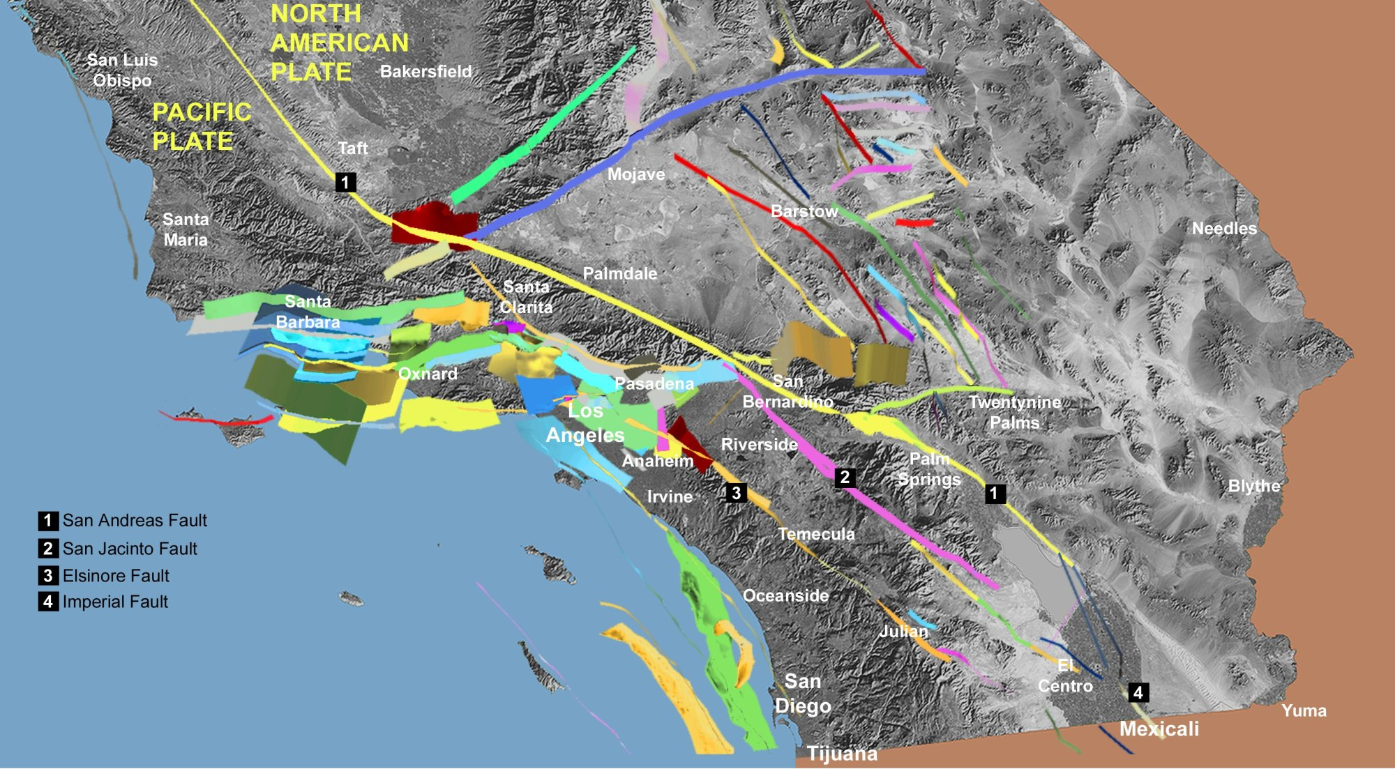 hight resolution of fault off san diego orange los angeles counties could produce 7 3 earthquake